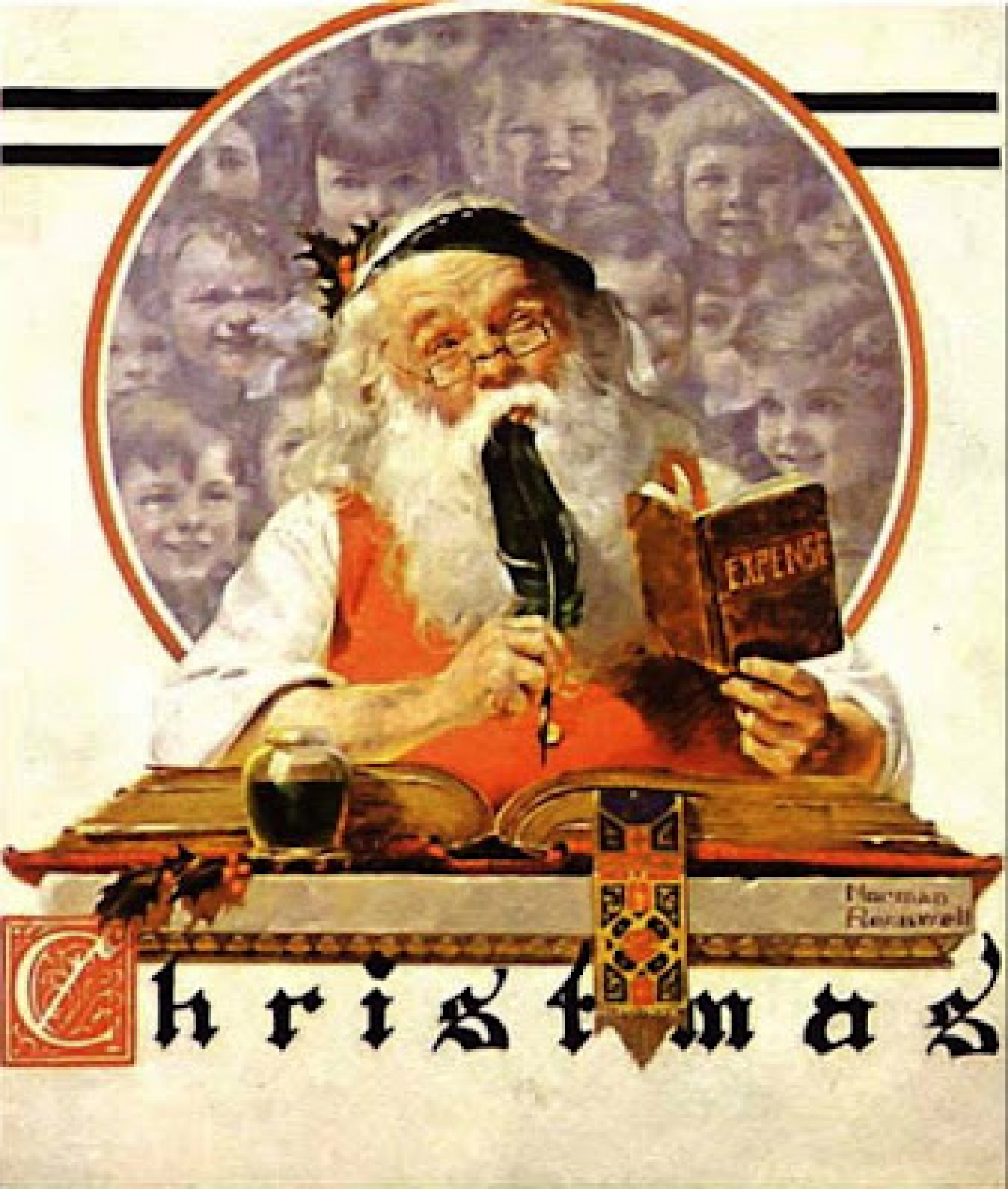 Norman rockwell christmas art